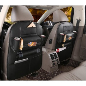 Anti-Scratch & Waterproof PU Leather 1 Pcs Car Back Seat High Quality Organizer Bag Convenient for Family