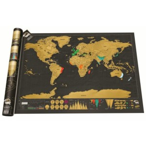 Scratch Off Large Deluxe World Map Personalized Travel Map Wall Poster Gift