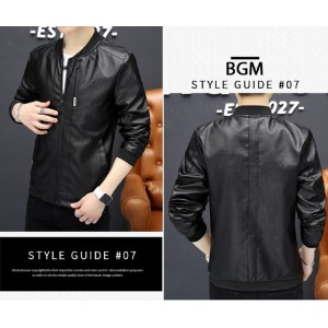 Comfortable Leather Jacket Men's Casual New Fashion Style PU for Stylish Man Biker Motorcycle Bomber