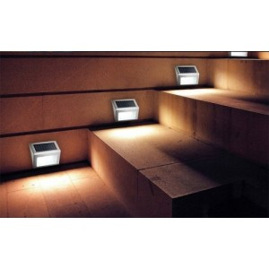 4 PCS Solar LED Lighting Bright Light Waterproof Night Auto On Staircase Wall LED