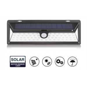 90 LED Solar Light Motion Sensor Waterproof Security 3 Modes Wide Lighting Area