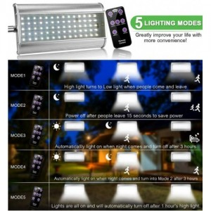 70 LED Waterproof Solar Motion Sensor Lights Outdoor with Smart Remote Control
