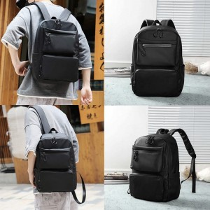 Bag Black Backpack Waterproof Laptop Beg Large Fashion Canvas Student Travel Bag for Men and Women