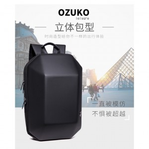OZUKO Brand New Backpack Fashion Hardcase Anti Theft Laptop Bag Casual Waterproof Travel Men Women Bagpack