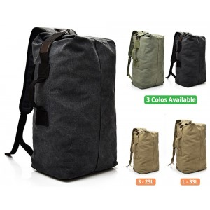 Bag Canvas Sports Backpack Beg Men Large Korean Rucksack Army Military Tactical Outdoor Travel