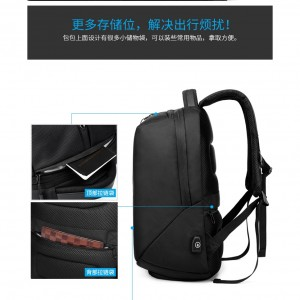 OZUKO Backpack Anti Theft Laptop Bag USB Charging School Beg Men 15.6 Waterproof Travel Bagpack