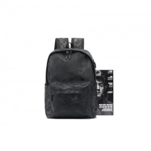 Casual Leather Backpack Laptop Bag Light Weight Waterproof Travel Student Bag