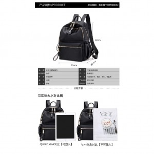 Bag Women Backpack Classic Black Beg for Travel School Casual Trendy Fashion Shoulder Beg Bags