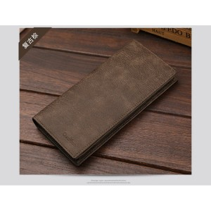 CaxiKven Genuine Leather Long Wallet With 11 Card Slots