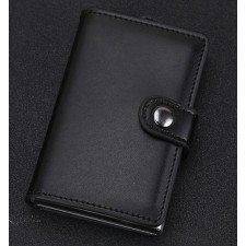 RFID Ridge Pull Out Card Case US Popular Metal Money Clip Aluminium Wallet Card Holder With Cover