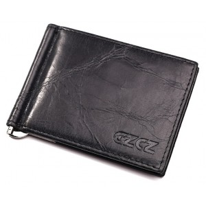 GZCZ Genuine Cowhide Leather Money Clip Wallet Men Casual Italy Fashion Card Holder Slots Kavis