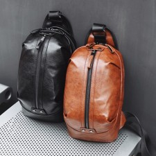 Retro Style Leather Chest Beg Sling New Fashion Crossbody Bag Wallet Men Premium Pouch Purse