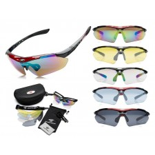 Robesbon Polarized Sunglasses with 5 Changeable UV400 Protection Colored Lenses Original Stylish