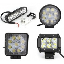 18W 27W LED Waterproof Off Road Light Bar Spot Light Trailer Boat SUV Head Light