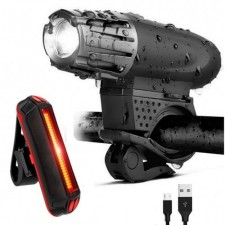 USB Rechargeable XML T6 CREE LED Bicycle Bike Front Back Light Cycling Lamp zoom