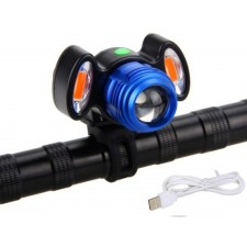USB Rechargeable XML T6 CREE LED Bicycle Bike Front Light Cycling Lamp IP65