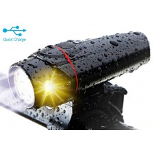 USB Rechargeable Bike Front Back Light XML T6 CREE LED Bicycle Cycling Lamp
