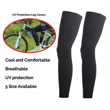 Breathable UV Protection Leg Covers Long Comfortable Knee Protector Tight for Men Women Unisex Sports Dance Cycling Gym