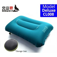 BSWolf Comfortable Inflatable Air Pillow Ultralight TPU Thick Square Outdoor Camping Hiking Sleeping Bag Pillow
