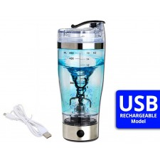 USB Rechargeable Portable Creative Auto Electric GYM Protein Blender Shaker Bottle