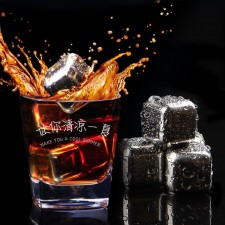 Set of 8 Stainless Steel Whiskey Ice Cubes Reusable Wine Chillers