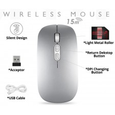 M103 Silent Wireless Mouse With Return Home Button, No Click Noise Ergonomic High Performance Gaming Mouse