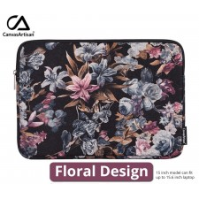 Canvas Artisan Protective Laptop Hand Carry Bag 15.6 inch Anti Shock Pouch Case Floral Design Notebook Macbook Tablet