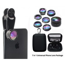 7 in 1 Universal Phone Lens Package Wide Angle Micro Camera Macro Clip IPhone