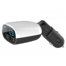 3.4A Dual Port Fast Usb Charger With Car Batteries Voltmeter