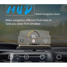 HUD Head Up Display Screen Car GPS Navigation Universal HUDWAY Go Navier Projector Phone Holder