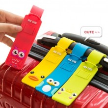Cartoon Travel Luggage Tag Soft Silicone