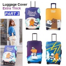 Extra Thick Luggage Cover Protector Elastic Zipper- PART 3