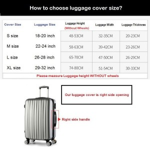 Extra Thick Luggage Cover Protector Elastic Zipper- PART 2