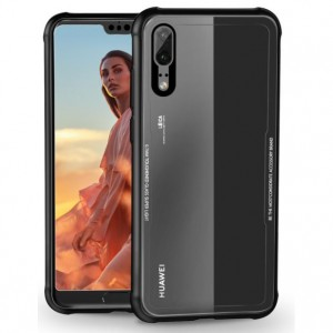 Huawei P20 / P20 Pro / Nova 3E Tempered Glass Soft TPU Phone Case Cover Casing