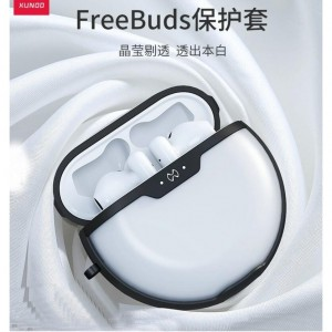 Case For Huawei Freebuds 2 3 Case Shookproof Airbag Bumper Cover Hook Transparent For Freebuds 3 Earphone