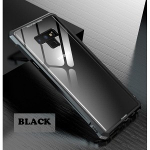 Samsung Galaxy Note 9 Tempered Glass Metal Phone Case Cover Casing