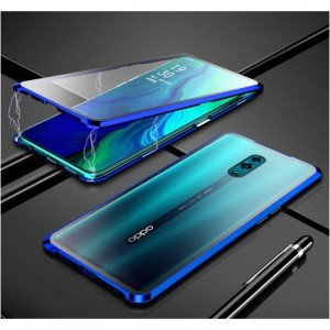 Oppo Reno 10x Zoom Magnetic Magnet Super Clear Tempered Glass Phone Case Cover Casing
