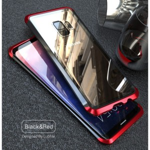 Samsung Galaxy S9 / S9 Plus LUPHIE Metal Bumper Tempered Glass Case Cover Casing