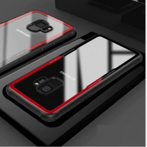 Samsung Galaxy S9 / S9 Plus Soft TPU Tempered Glass Phone Case Cover Casing