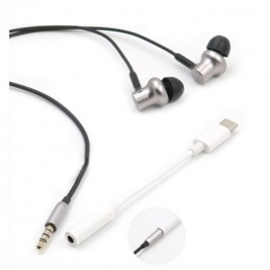 2 in 1 apple iphone lighting Type C Charger Converter to 3.5 mm Headphone Audio Jack Adapter fast charging