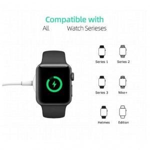 2 in 1 Fast Charge for Apple Watch iWatch Series 1/2/3/4 Wireless Magnetic Charging Cable Lightning for iPhone