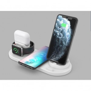 10W 3 in 1 Micro USB Type-C Fast Wireless Charger Dock iPhone iWatch Airpods Apple Watch Charger