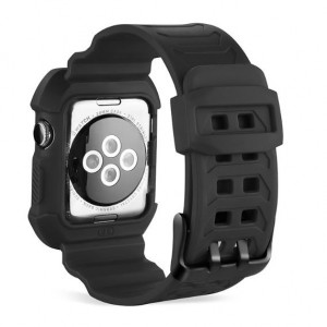 IWatch Apple Watch Series 1 2 3 Band + Case Strap 38mm 42mm Shock Proof Good Protection WatchBand with Case All In 1