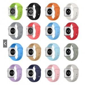 Silicone strap band Apple Watch 42mm 38mm 44mm 40mm Rubber Wrist Bracelet Watchbands Iwatch Series 5/4/3/2/1