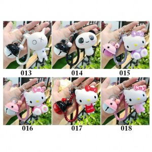 Cartoon Cute Doll Keychain Creative Braided Rope Keychain Bag Pendant Small