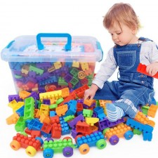 Bulk Building Blocks 100/182/260/416Pcs DIY Early Educational Model Bricks Kids Toys Freegift Birthday Present