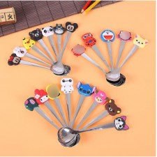 Cartoon Small Spoon for kids Cute Beautiful Kid Spoons Stainless Steel Coffee (RANDOM DESIGN)