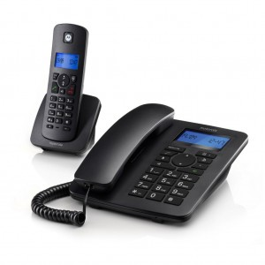 MOTOROLA C4201 COMBO DECT Corded and Cordless Speaker Display Caller ID Phone Office House Home TM Unifi