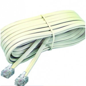 RJ-11 Pin to Pin Cable for Telephone Cable Extension Home Telekom Wire Extend RJ-11