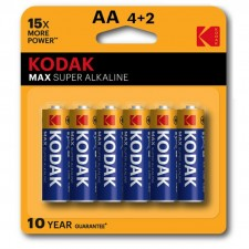 KODAK MAX Super Alkaline AA Size Blister Battery (4pcs +2pcs Pack)